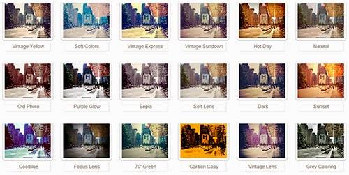 Lista de filtros de Rollip