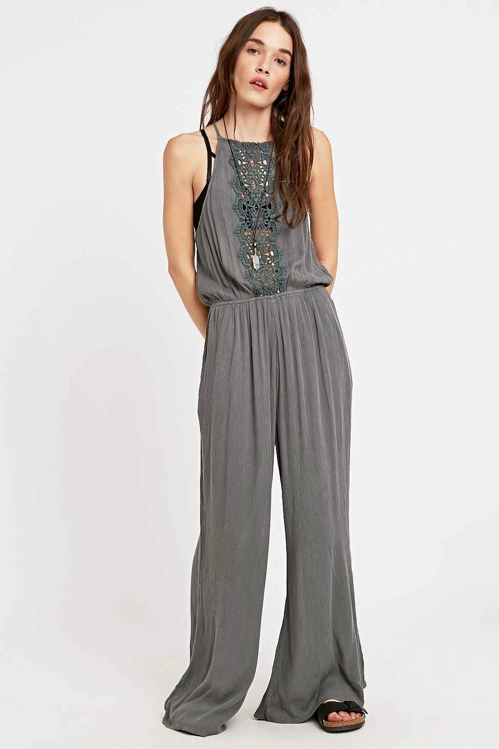 staring at stars grey jumpsuit
