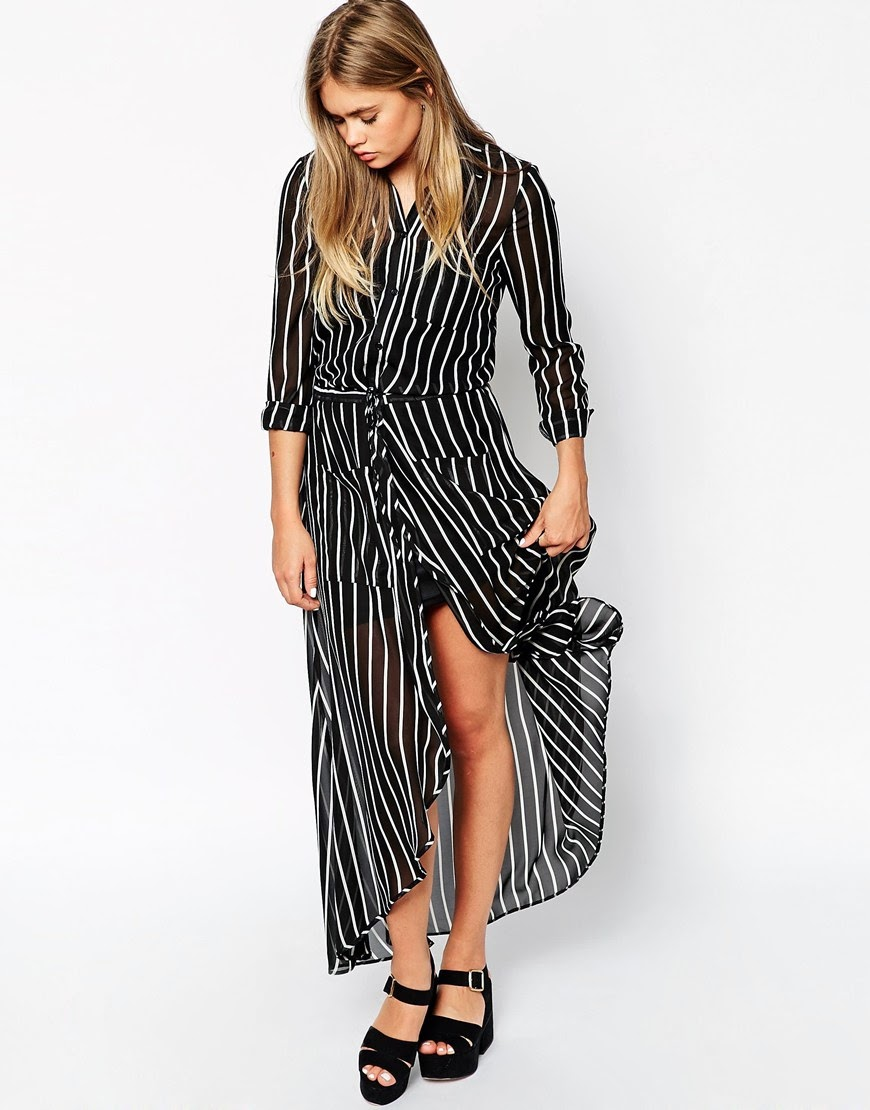 striped maxi shirt dress, maxi shirt dress,