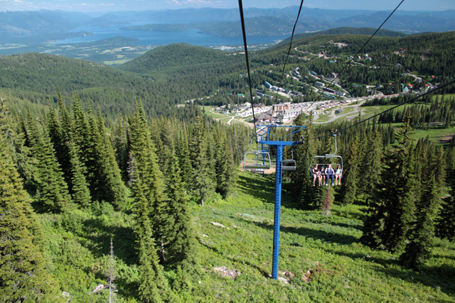 Schweitzer Summer Celebration chairlift rides