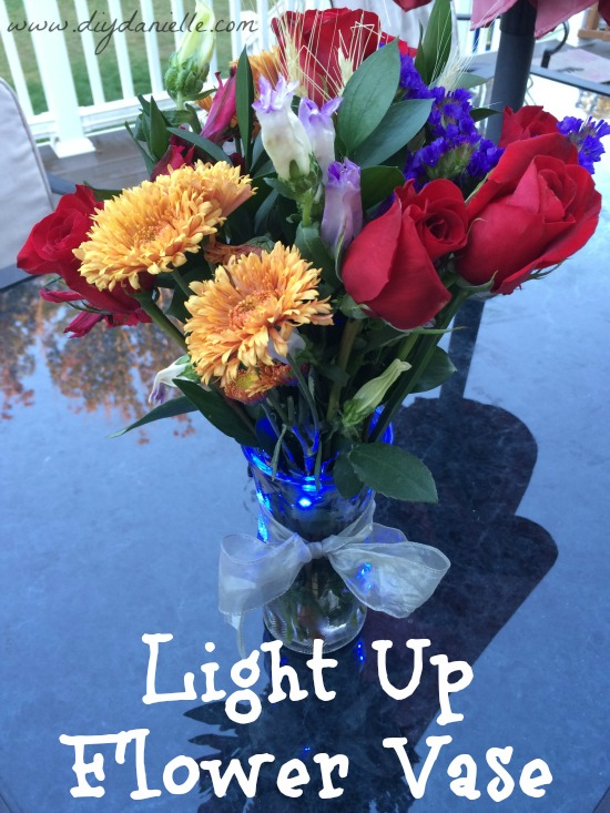 I used LED lights to make this flower vase light up!