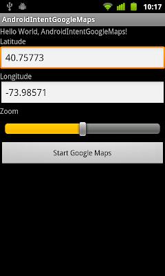 使用意圖(Intent)啟動 Android 內建谷歌地圖