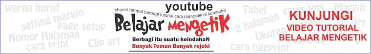 VIDEO TUTORIAL BELAJAR MENGETIK DI YOUTUBE