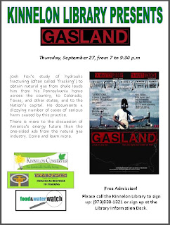 Gasland at the Kinnelon Library