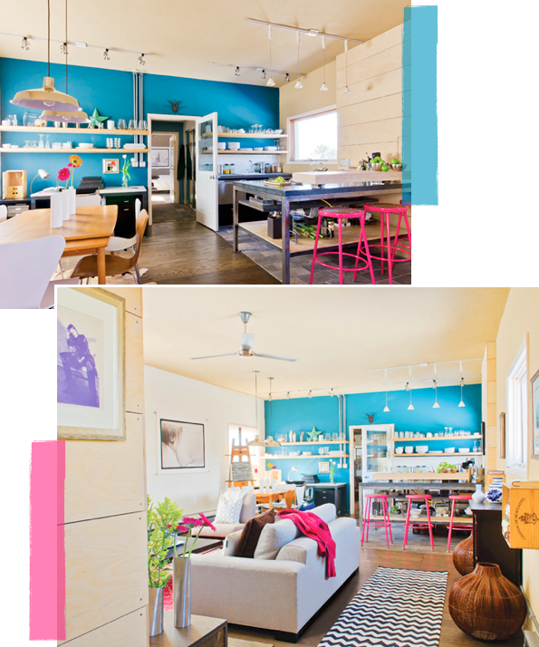 Home tour industrial amp colourful loft bright bazaar by will taylor
