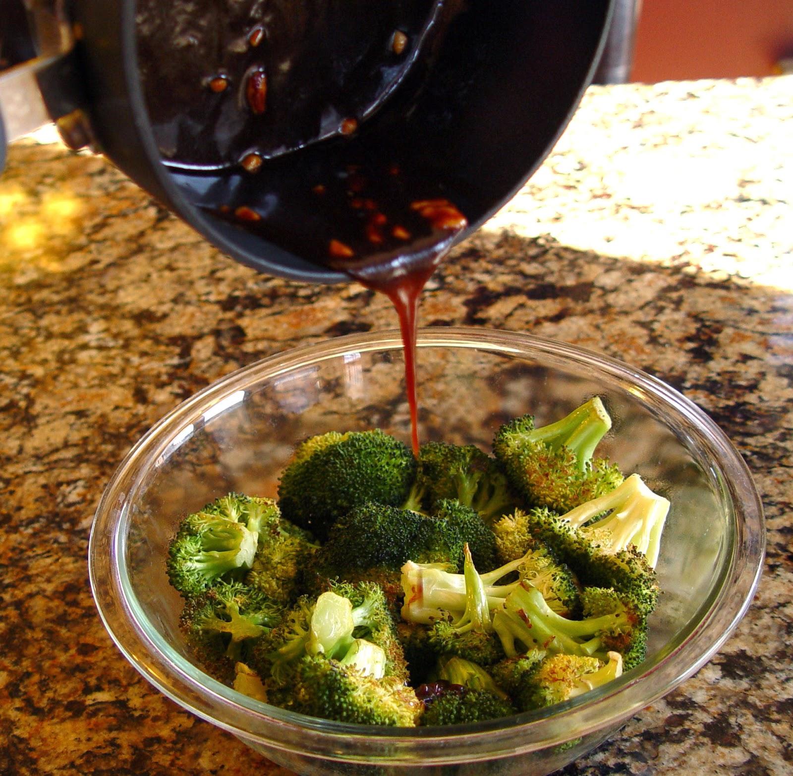Roasted Broccoli with Balsamic and Sesame Glaze