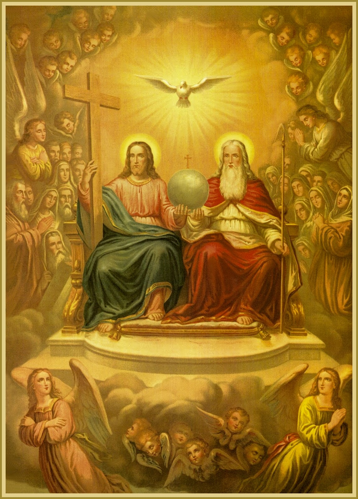 trinity and god The dogma of the trinity the trinity is the term employed to signify the central doctrine of the christian religion -- the truth that in the unity of the godhead there are three persons, the father, the son, and the holy spirit, these three persons being truly distinct one from another.