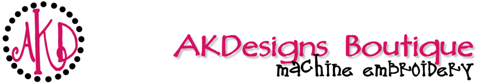 AKDesigns Boutique Machine Embroidery Designs