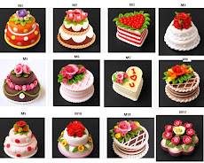 Handmade Mini Cakes With Polymer Clay For Sale