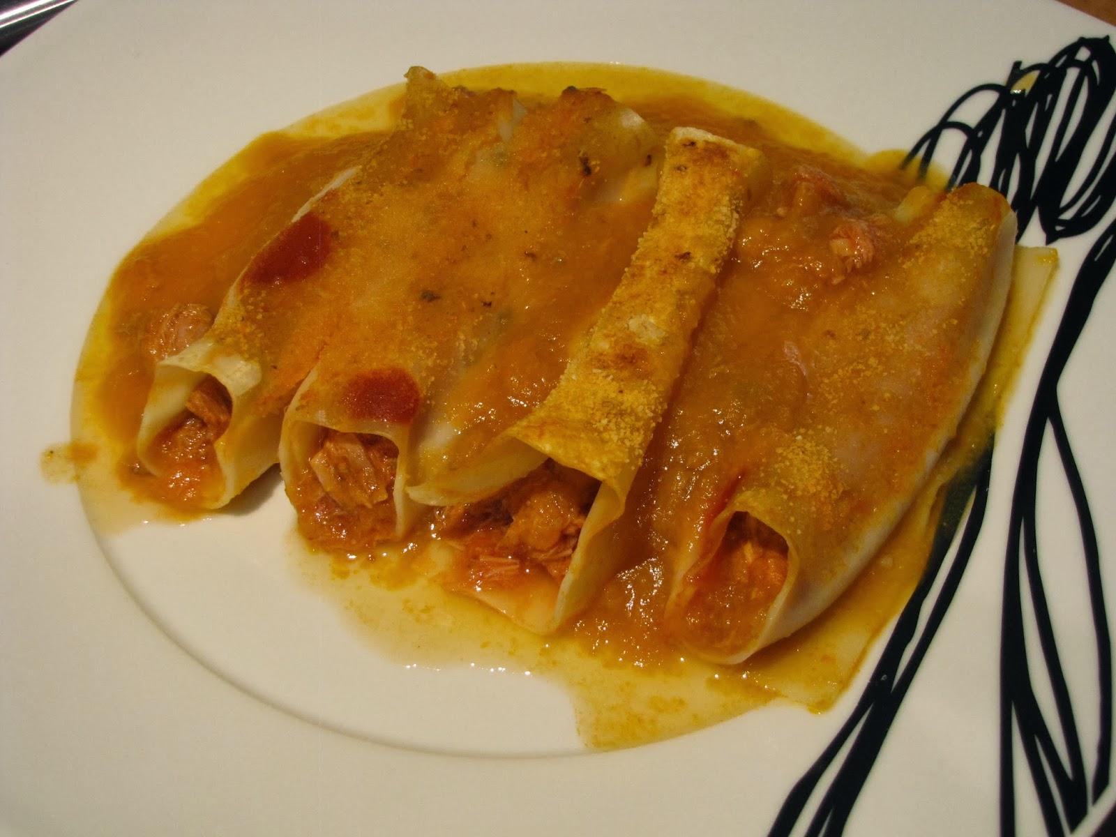 Dieta del bocadillo canelones de at n - Canelones en microondas ...