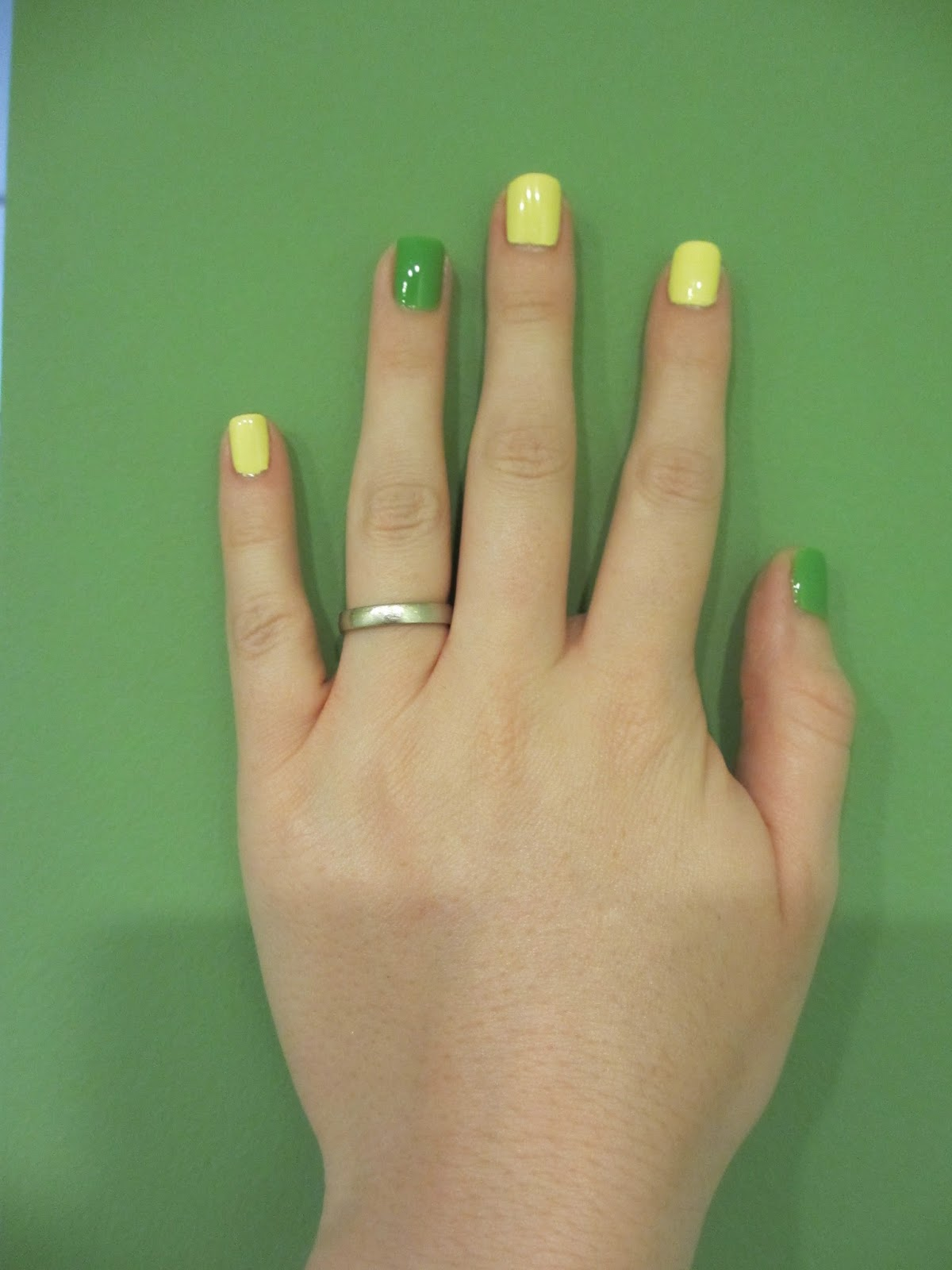 china glaze lemon fizz gaga for green
