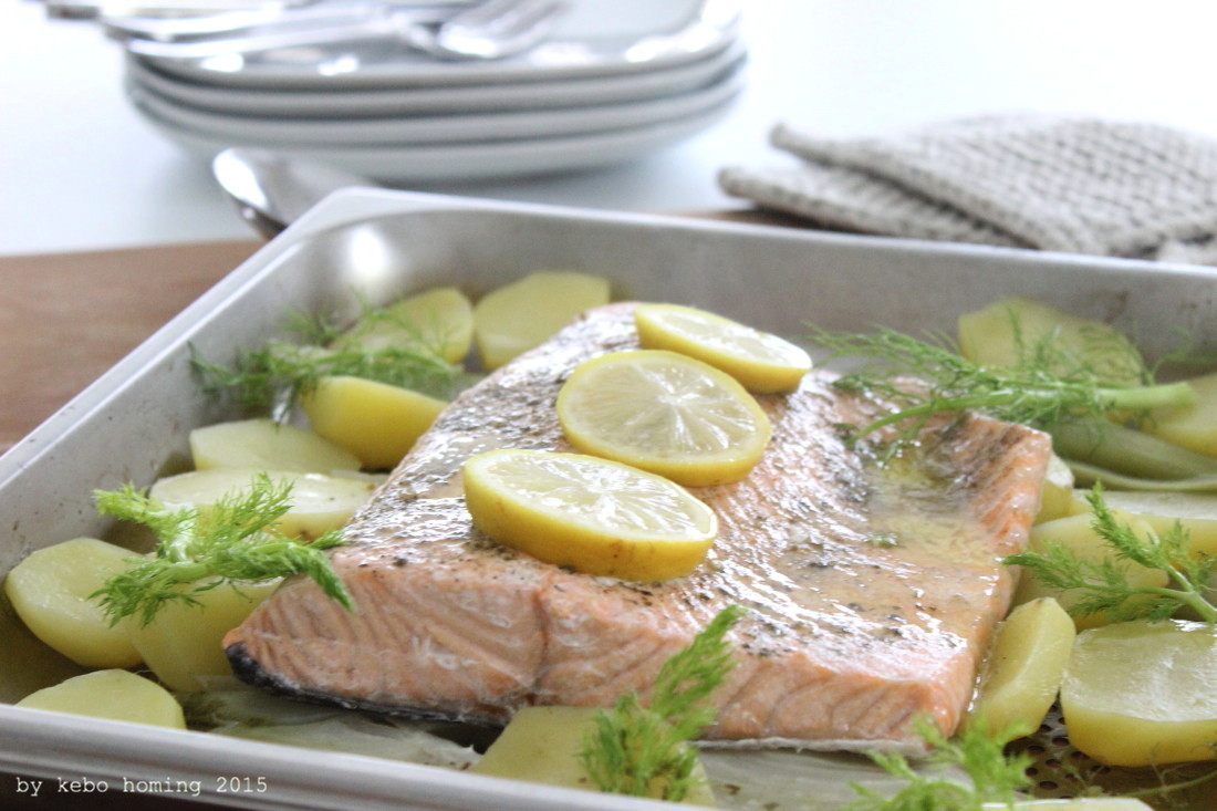 Fisch, Rezept, Lachs, Kartoffeln, Fenchel, Dampfgaren, Kochen, Kebo Homing