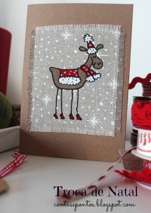 troca de Natal - postais