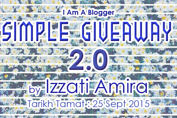 MENANG Simple Giveaway 2.0 by Izzati Amira !