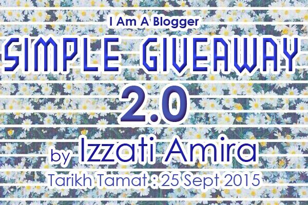 MENANG Simple Giveaway 2.0 by Izzati Amira !