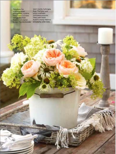 Rose arrangement for table