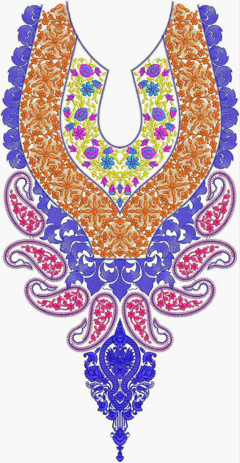 Embdesigntube Nice Neck Embroidery Designs