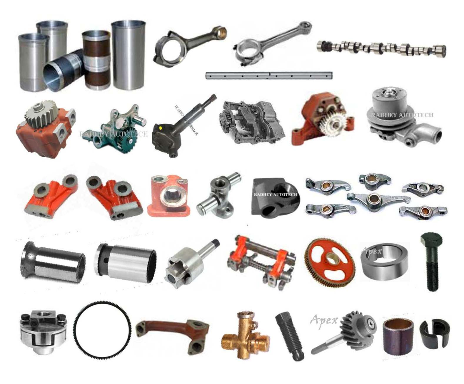 Tractor Engine Parts : Massey ferguson tractor spare parts