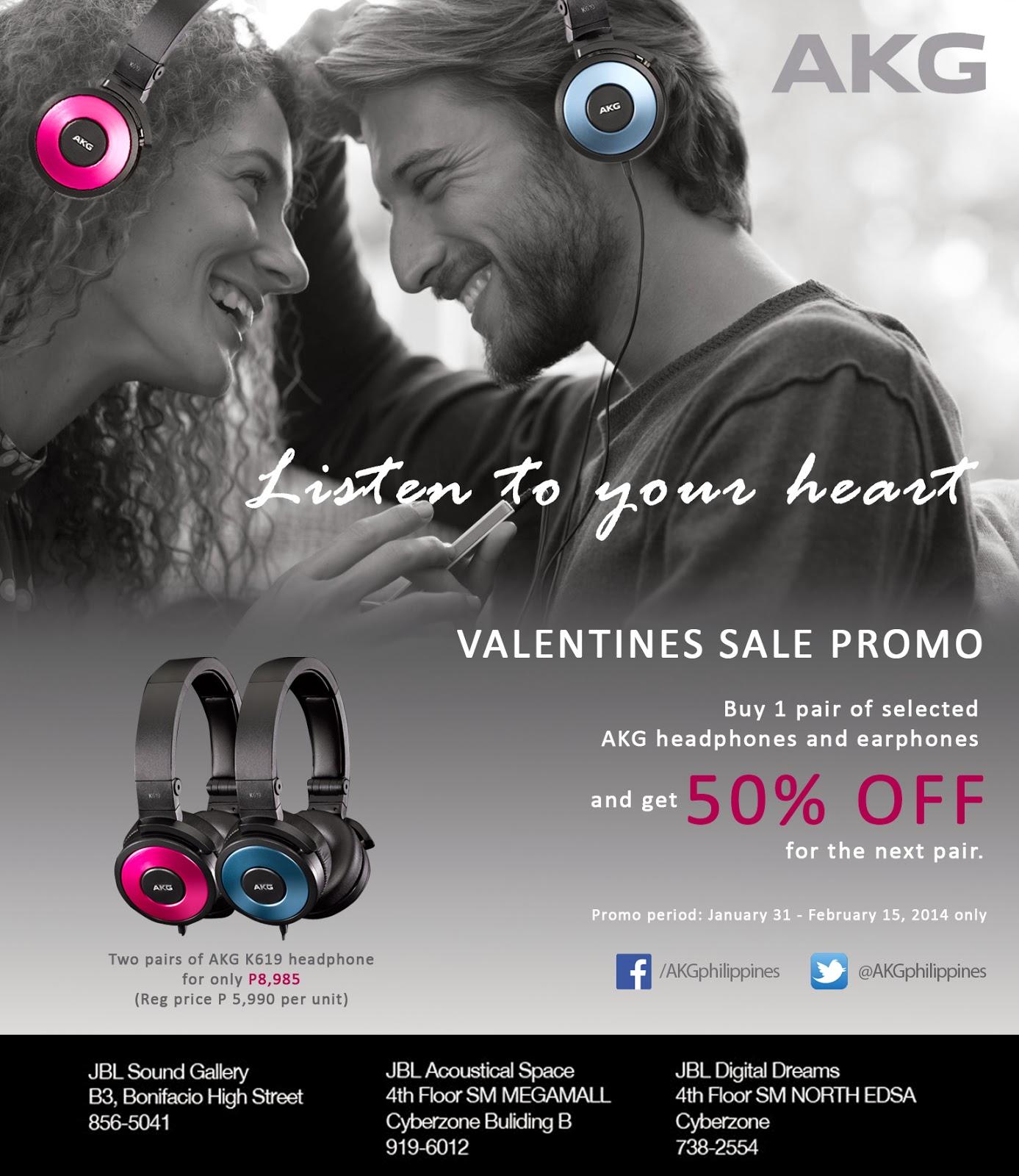 akg valentines day sale promo 2014