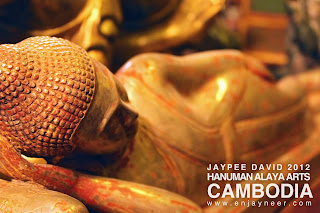 Reclining Buddha, Statue, Cambodia, Khmer, Siem Reap, Hanuman Alaya, Travel, Tours, Angkor, Angkor Wat, Art, Collection