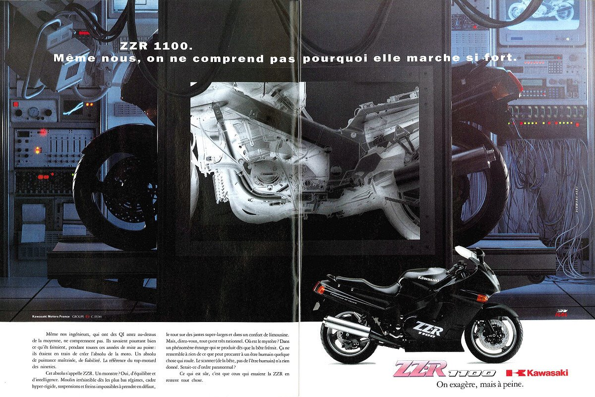 Racing Caf    Vintage Brochures  Kawasaki ZZR 1100 1992