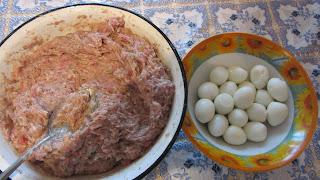 фарш и яйца для котлет