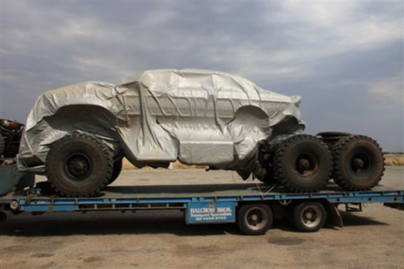 6 Wheeled Monster Off-Road Mercedes Mutant Vehicle in New Mad Max 4 Movie