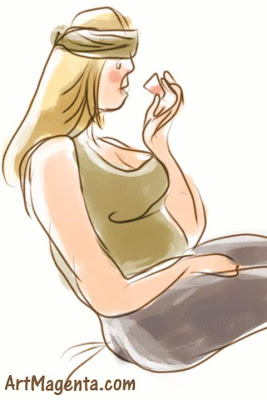 My medicine is a gesture drawing finger painted on an iphone by artist and illustrator Artmagenta