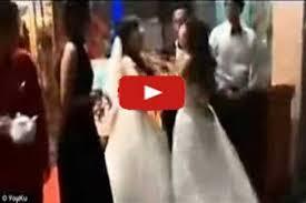 خناقه  بين العروس والعشيقة شاهد رد فعل العريس كان إيه