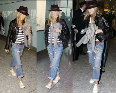 Gallery images and information: Kate Moss Casual Style 2013