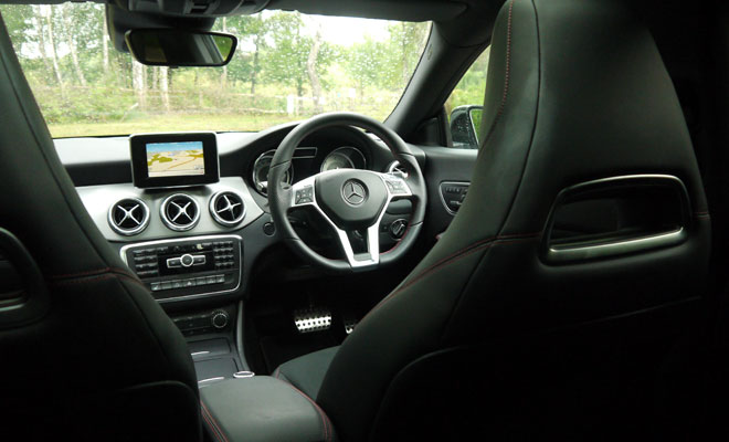 Mercedes CLA rear interior view