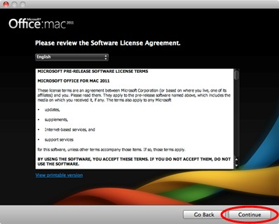 mac how to show office 2011 key
