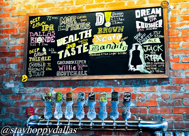Deep Ellum Taproom Tap Wall