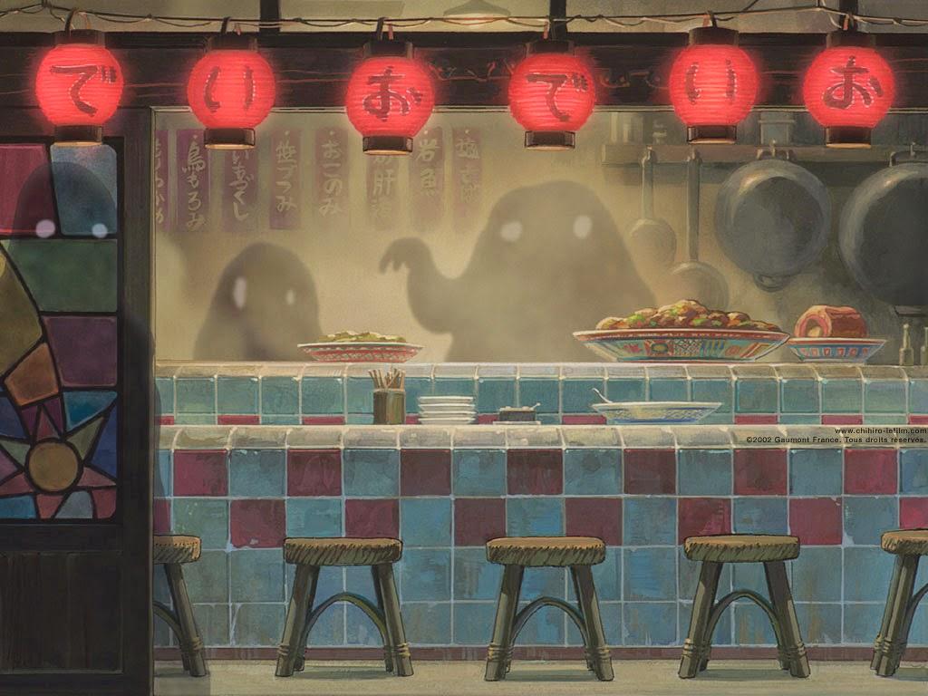 Escena fantasmas El Viaje de Chihiro