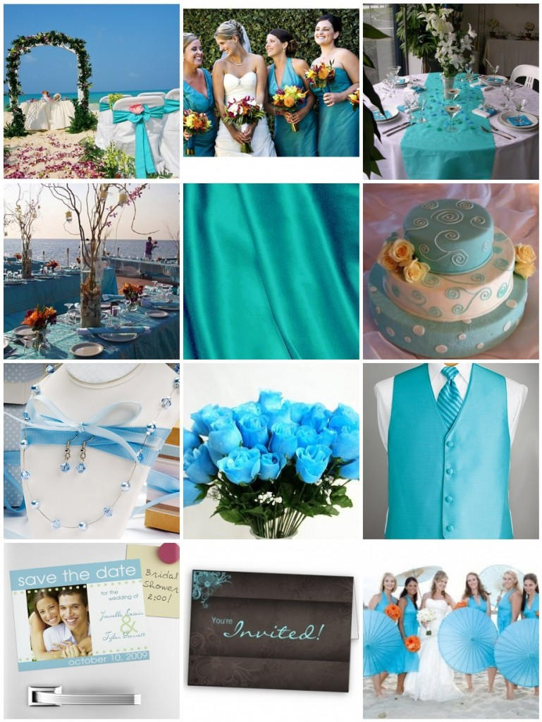 Turquoise Wedding Color Schemes