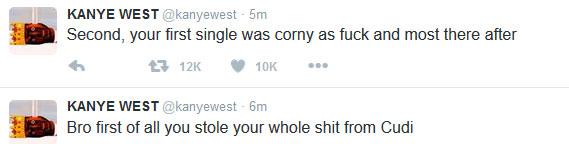 "Wiz Khalifa Tweets About ""Hitting The KK"", Kanye West Thinks He Meant Kim K, Fighting Ensues (Screenshots)"
