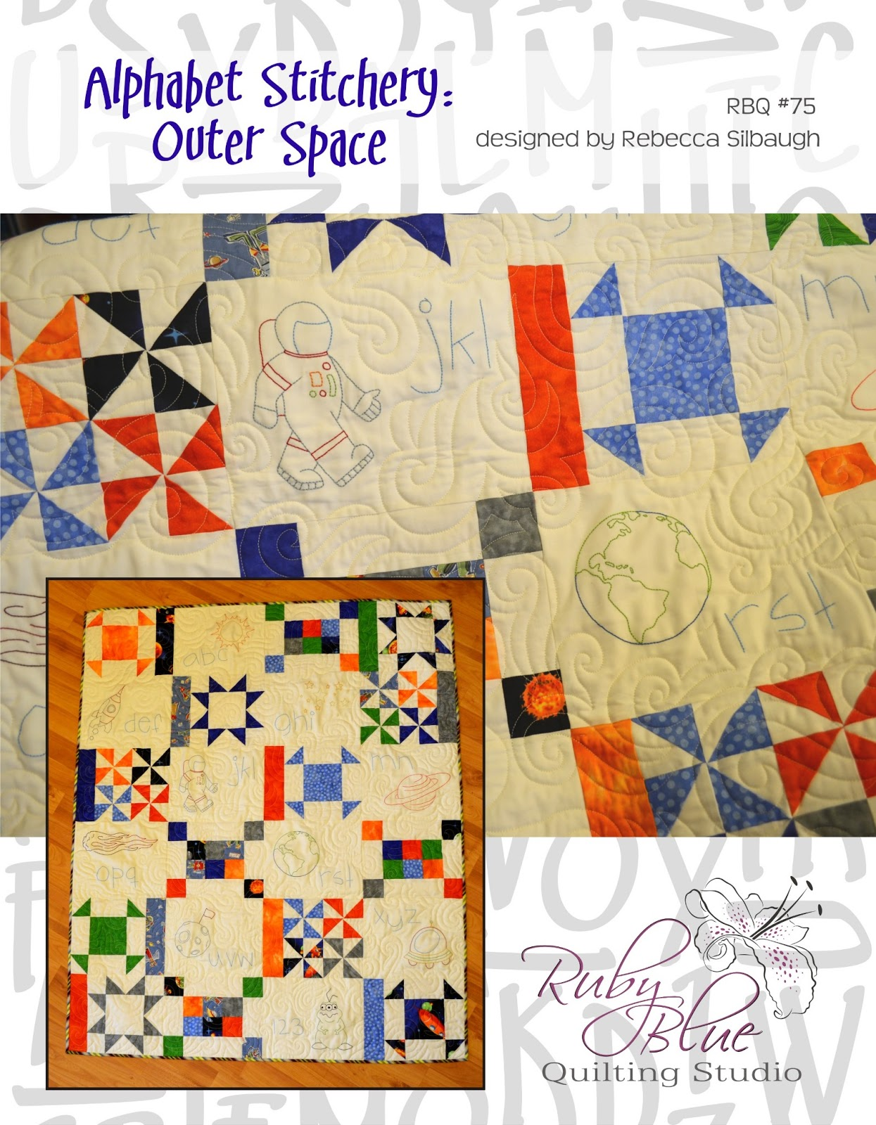 Ruby blue quilting studio patterns for Outer space quilt patterns