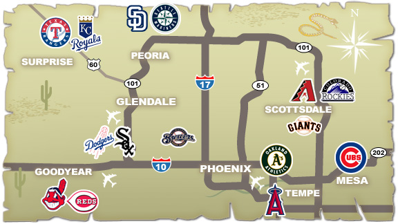 Grapefruit League Map. Grapefruit League Map Florida Sports ...