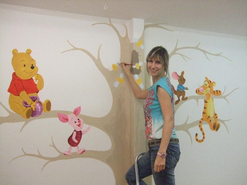 Happy babee wandmalerei for Wandbilder kinder