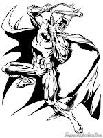 Mewarnai Gambar Aksi Batman Menumpas Kejahatan