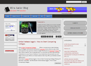 Wira Junior Blog