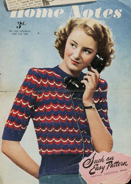 vintage 40s knitting pattern
