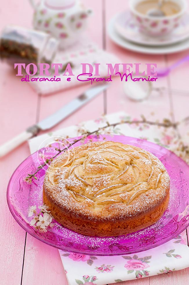 torta di mele all'arancia e grand marnier