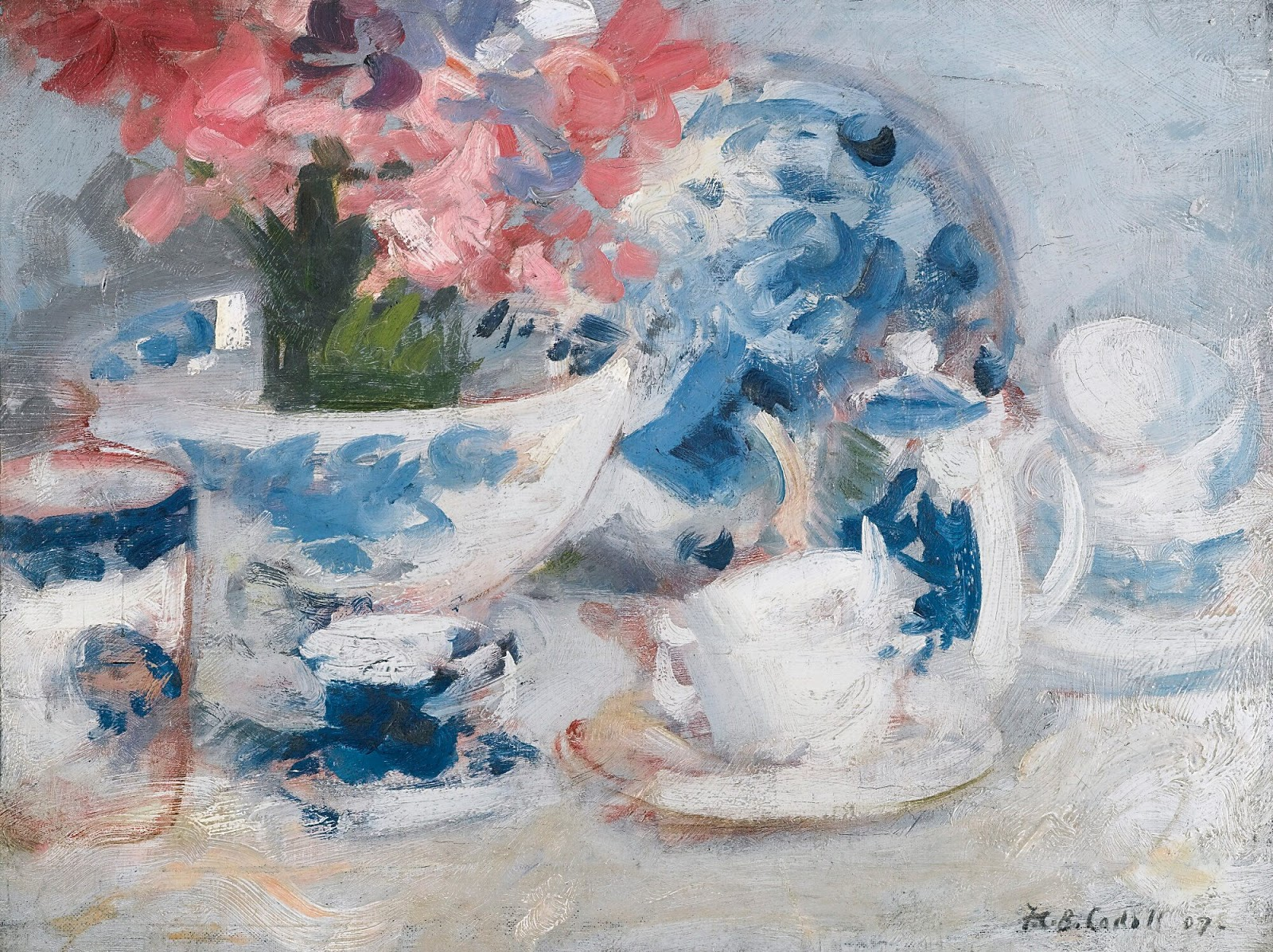 Francis Cadell White pink and blue