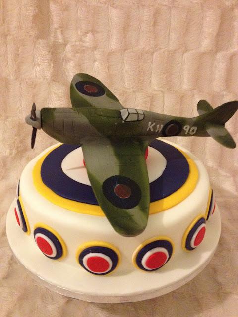 Cake Art Black Edible Colour : Custom Cake Art: Spitfire Birthday Cake