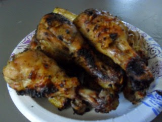 Lemon-Herb Chicken Barbecued on Paper Plate