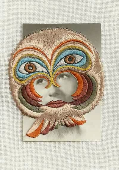 """Melanie"" photograph embroidery art by Stacey Page"