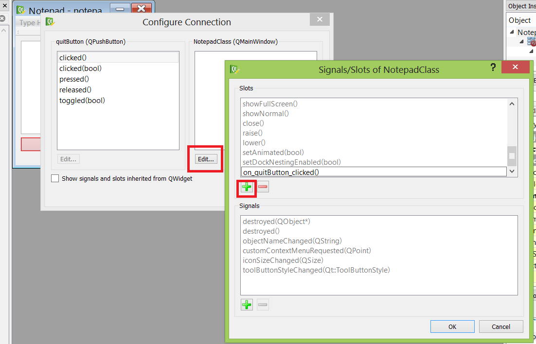 What We Do In Life Echoes In Eternity Adding A Custom Slot In Qt Designer And Visual Studio 2012