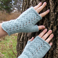 Isabel Fingerless Gloves Modeled