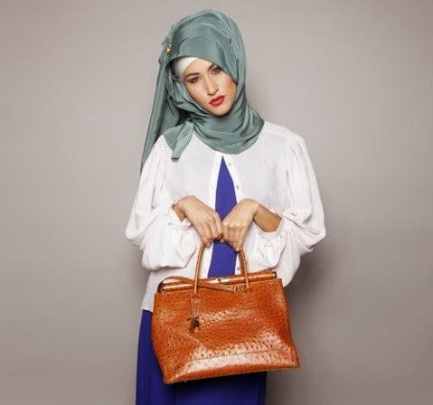 model hijab simple untuk ke kantor
